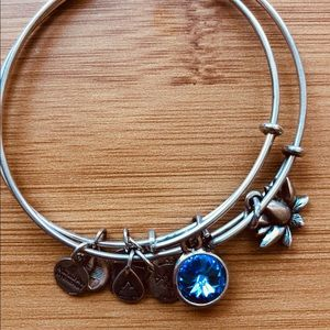 Alex & Ani Saphire Birth Stone & Flower